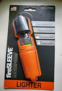 Exotac fireSLEEVE Ruggedized Waterproof Lighter Case Fits BIC Classic Blk Orange