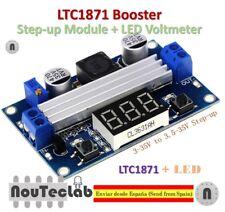 LTC1871 DC DC Step Up Booster Converter 3-35 VDC to 3.5-35 VDC with VoltMeter