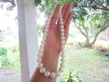 .86 Carat Diamond Yellow Gold Pearl Necklace 14k codeNx12 sepvergara