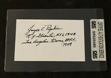 JOYCE PIPKIN SIGNED AUTOGRAPHED INDEX CARD 1948 NEW YORK GIANTS CAS AUTHENTIC