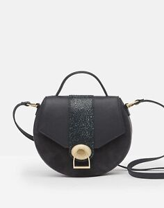 Joules Womens 215723 Mini Leather Saddle Bag - Navy - One Size