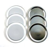 6 Pack Silver Regular And Wide Mouth Canning Lids, Mason Jar Lids - Bulk Generic