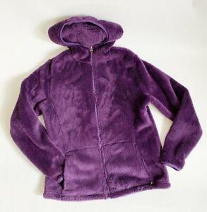 Champion Purple Sherpa Full Zip Two Pockets Hooded Jacket Sz M