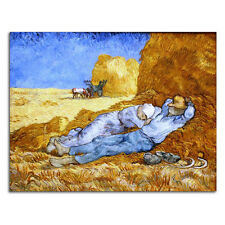 Canvas Print Pic Van Gogh Painting Repro Home Dec Wall Art Rest from Work Framed