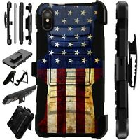 Lux-Guard For iPhone 6/7/8 PLUS/X/XR/XS Max Phone Case Cover US HALF FLAG