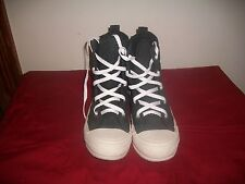CONVERSE ALL STAR QUILTED HIGH TOP FASHION THICK SOLE BLACK SNEAKERS WOMANS 6.5