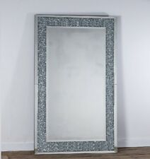 Gatsby Crystal XL Glass Framed Rectangle Venetian Bevelled Wall Mirror 120x80cm