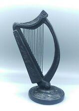 """Owen IrishTurf Crafts Celtic Irish Harp 8-1/4"""" tall Bog Oak BallyShannon"""