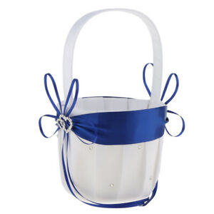 Wedding Flower Girl Basket With Litter And Rhinestone Design