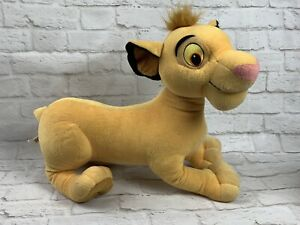 "Lion King Simba Plush Disney 18"" Jumbo Hasbro 2002"