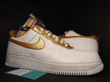 Nike Air Force 1 Low SUPREME I/O TZ THE HERO WHITE METALLIC GOLD 516630-170 11