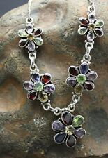 STERLING SILVER GENUINE GEMSTONE Necklace FAST FREE SHIPPING !!