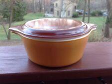 Pyrex Dish With Lid Ovenware 1 1/2 Pint Burnt Orange Brown Top