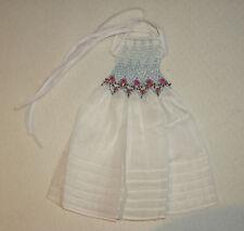 zartes Boneka Kleid weiss gesmokt für 35 cm Puppen wie Helen Kish, BJD u.ä.