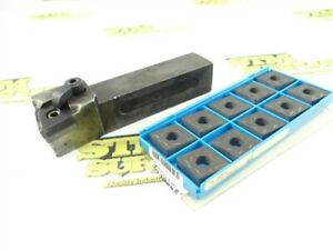 """KENNAMETAL INDEXABLE TURNING TOOL HOLDER 1"""" SHANK DCLNR-166C + 10 NEW INSERTS"""