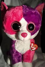 Pellie Ty Beanie Boos - MWMT - 17 Inch JUMBO - Pink/Purple Cat