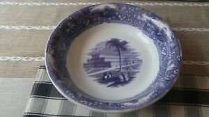 """Antique 1850s Crystal Palace by Thomas Godwin Serving Bowl 11.25"""" x 2.5"""""""