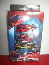 (16.1.15.3) Coffret de 3 voitures miniature The Amazing Spider Man Majorette