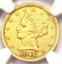 1846-C Liberty Gold Quarter Eagle $2.50 - NGC XF Details - Rare Charlotte Coin!
