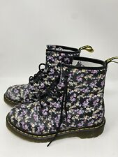 RARE🔥 Dr Martens Clemency 1460 Floral 8 eyelets Leather Boots Womens US 7 nice