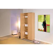 Armoire bibliothèque meuble de rangement bureau étagères modulables décor HÊTRE