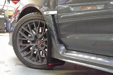 Rally Armor UR Black w/ Red Logo Mud Flaps Set of 4 for Subaru WRX & STI 15+ New