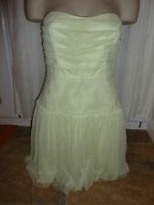 BNWT Lipsy Dress Size 12 £60 Lime Cream Bandeau Mesh Pleated Wedding Cut Out