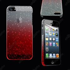 Accessoire Housse Etui Coque Rigide Gouttelette Pluie iPhone 5 5G +Film Rouge