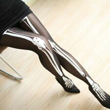 Personalized Skull Print Tights Tattoo Stockings Pantyhose Skeleton Tights