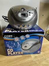 Coby CX-CD241 Portable CD player /A.M./F.M. Radio Boombox with Handle Tested