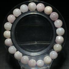 9mm Genuine Natural Purple Kunzite Cat Eye Crystal Round Beads Bracelet