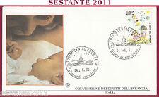 ITALIA FDC FILAGRANO I DIRITTI DELL'INFANZIA 1991 ANNULLO TORINO T862