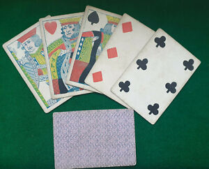 GENUINE Civil War Period 1860 Lucky POKER HAND  ' TWO PAIRS  '   KINGS & SIXES
