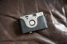 Handmade Genuine Real Leather Half Camera Case Bag Cover for Contax T3 Black