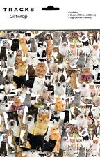 Gift Wrap Present Wrapping Paper Cute Cats Kittens With Matching Tags