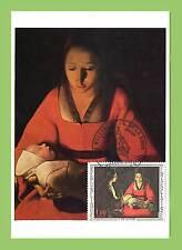 France 1966 G de La Tour, New born Child  painting Maximum Card, FDI, Rennes