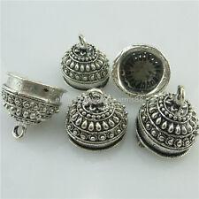 18436 8PCS Antique Connector 17mm Filigree for Tassels beads End Cap Pendant