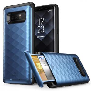 Galaxy Note 8 Case, Clayco [Argos Series] Premium Hybrid Protective Wallet Case