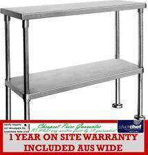 Fed Commercial Double Overshelf Over Shelf Stainless Steel Work Bench Wbo2-1500