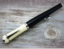 US Greta Garbo Luxury Resin Fountain Pen Pearl Silver Classic Writing Clip Gift