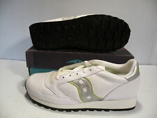 SAUCONY ORIGINAL LEATHER TRAINERS SNEAKER MEN SHOES WHITE/SILVER SIZE 11.5 NEW