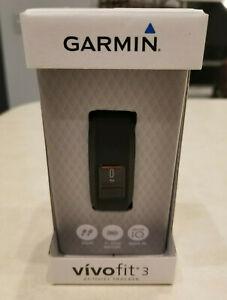 Garmin Vivofit 3 Activity Tracker, Black, Regular Fit, 010-01608-00