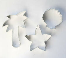 Beach Cookie Cutter, Set of 3 - Palm Tree, Seashell, Starfish