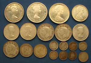 *NICE ASSORTED LOT CANADA SILVER DOLLAR, 50 CENTS, 25 CENTS & MORE ALL SILVER*