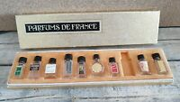 Vintage lot of miniature Perfume Bottles with box gift set parfums de France