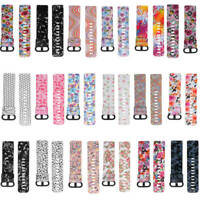 Replacement Silicone Watch Band Flower Strap Wrist Band For Fitbit Charge 3
