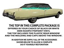 OLDSMOBILE 98 CONVERTIBLE TOP-DO IT YOURSELF COMPLETE PACKAGE 1965-1970