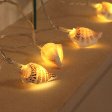1.5M INDOOR BATTERY OPERATED BATHROOM REAL SEA SHELL FAIRY STRING LED LIGHTS
