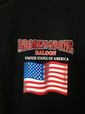 MENS T-SHIRT FROM THE BROKEN SPOKE SALOON SIZE MED CHECK OUT THE PICTURE ON BACK