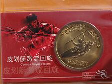 10 Yuan 2008  Kajak Slalom Olympische Spiele Peking  Bronze Münzkarte China 1013